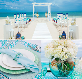 chose your wedding decor for your sandals wedding